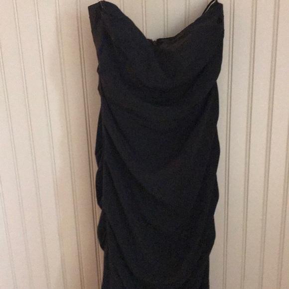 Nicole Miller Dresses | Black Strapless Gown | Poshmark